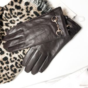 A new day Brown Gloves Gold Buckle